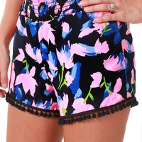 With The Flowers Shorts: Multi