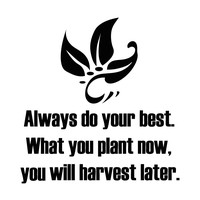 """""""Always do your best. What you plant now, you will harvest later."""" Motivational Quote Wall Decal. #5354"""