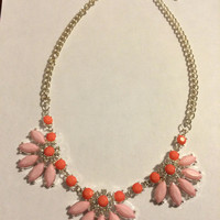 Pink and Coral Statement Necklace