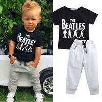 Baby Boy Set Suit with The Beatles print