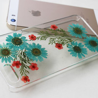 iPhone 5 Case Pressed Flower iPhone 4 Case iPhone 5s Case Dried press flower iPhone 4s Case iPhone 5c Floral iPhone Case Plastic iPhone 5