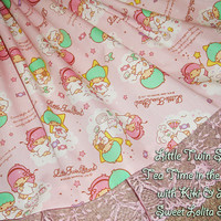 Custom Little Twin Stars Tea Time in the Clouds with Kiki & Lala Sweet Lolita Skirt - ANY SIZE