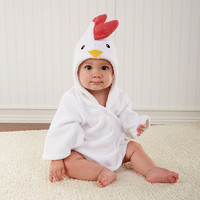 Barnyard Bathtime Chicken Hooded Spa Robe Personalization Available