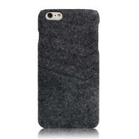 iPhone 6 6S Plus felt case with pocket