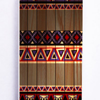 Simple Aztec On Wood for Iphone 5 / 5s Hard Cover Plastic