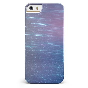Blue and Purple Scaratched Streaks  iPhone 5/5s or SE INK-Fuzed Case