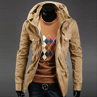 Luxury Men Fashion Slim Fit Jacket