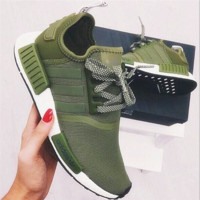 """""""Adidas"""" NMD Boost Casual Sports Shoes Army Green"""