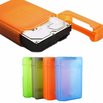 3.5 inch Dust Proof Plastic IDE SATA HDD Hard Drive Disk Storage Box Case Cover