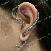 HOT Fashion 1PC Snake Vintage Punk Ear Cuff Earring Cool Animal Free Ship FJ6