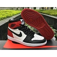 NIEK Air Jordan 1 AJ 1 hot sale color matching couple high-top basketball shoes