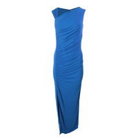 Michael Kors Womens Ruched Bottom Slit Evening Dress