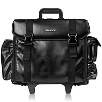 Makeup Artist Soft Rolling Trolley Cosmetic Case with Free Set of Mesh Bag