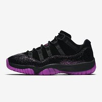 Air Jordan 11 Retro Low ¡°Rook To Queen¡± Think 1 Black/Fuchsia Blast AJ11 Sneakers