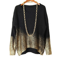 Mosaic Gradient Sweater Mix Color Knitwear