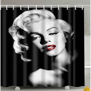 Africanwoman Waterproof Shower Curtain Home Bathroom Curtains with Bath Curtain