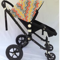 Sample Sale! Bold Zig Zag Replacement Canopy or Hood for Bugaboo Cameleon or Cameleon3