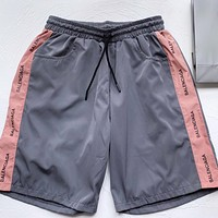 Balenciaga New fashion more letter couple shorts Gray