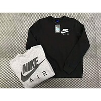 NIKE Trending Casual Women Men Print  Long Sleeve Pullover Sweater G-WMGCD