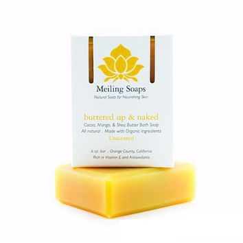 Meiling Skincare Organic Soap - Buttered Up & Naked (unscented)