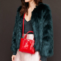 Patent Vegan Leather Mini Tote Bag - Urban Outfitters