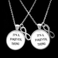 It's A Forever Thing Infinity, Gift Best Friends, Sisters, Couples Necklace Set