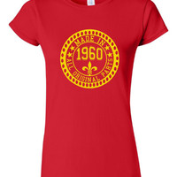 Made in 1960 All Original Parts Tshirt. 55th Birthday Shirt.  Funny Birthday Tshirts. Ladies and Mens Unisex Styles. Makes A Great Gift.