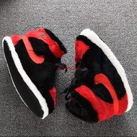 YEEZY & NIKE 2018 new home men and women casual plus velvet warm cotton slippers