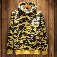 BAPE Camouflage letters sweater Hedging Hooded pullover long sleeve Sports TOP-1
