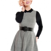 Your Best Angle Knit Dress in Black and White