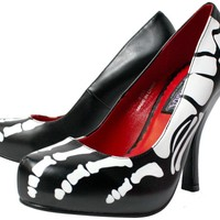 PLEASER SKELETON FOOT HEELS - Shoes - Gals