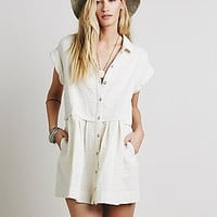 Free People Womens New Moon Babydoll Dress