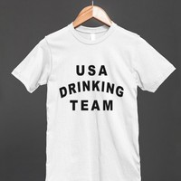 usa drinking team logo style reg tee - Totes Adorbs Tees - Skreened T-shirts, Organic Shirts, Hoodies, Kids Tees, Baby One-Pieces and Tote Bags