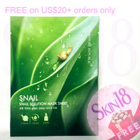 Freebies for US$20+order ONLY - Nature Republic Snail Solution Mask Sheet - Snail