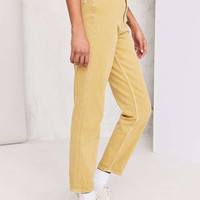 BDG Mom Jean - Mustard - Urban Outfitters