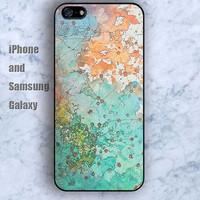 Watercolor world map pattern colorful iPhone 5/5S case Ipod Silicone plastic Phone cover Waterproof