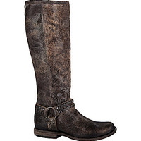 Frye Phillip Studded Harness Tall Boots - Chocolate