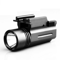 Quick Release Tactical Led Flashlight Cree for Glock 17 19 20 21 22 23 with 20mm Weaver or Picatinny Rail Glock Accessories D