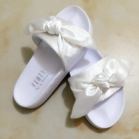PUMA fenty rihanna silk Bow Slide Sandals Shoes sneakers spring (10-color) White