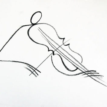 The Violinist (Offset Lithograph)