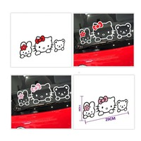 Car Sticker Cute Hello Kitty and Her Friends Kathy and Tainiy Chan Playing Together Decal Lovely Styling Car Accessories
