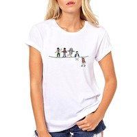 Newest 2018 Fashion Stranger Things T Shirt Women's Mike Dustin Lucas Eleven Will T-shirt Summer Hipster Brand Tops Tee Clothing