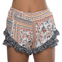 Country Field Floral Print Shorts