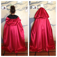 SALE!!! (regularly 12.99) Reversible Cloak sewing pattern. Child size 2T-Adult. Red Riding Hood, Vampire, Phantom of the Opera, Star Wars.