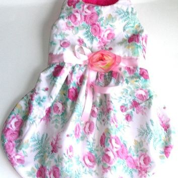 Dog dress Clothes : Floral Garden Party dog dress for that Chihuahua Yorkie teacup small dog