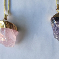Bubble Crystal Drusy Jewelry Natural Stone ,Amethyst Necklaces & Pendants for Women