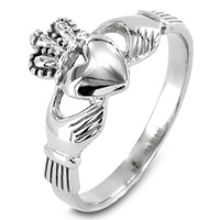 ELYA Stainless Steel Irish Claddagh Ring (2.5 mm) - Size 6