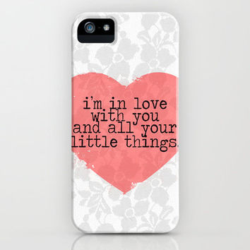 Little Things- One Direction iPhone Case by mysteryxmeow | Society6