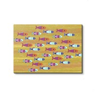 Playful school of fish