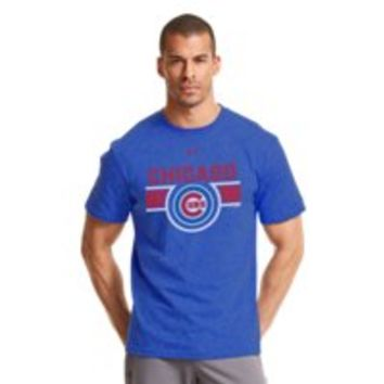 Under Armour Mens Chicago Cubs Charged Cotton Tri-Blend T-Shirt